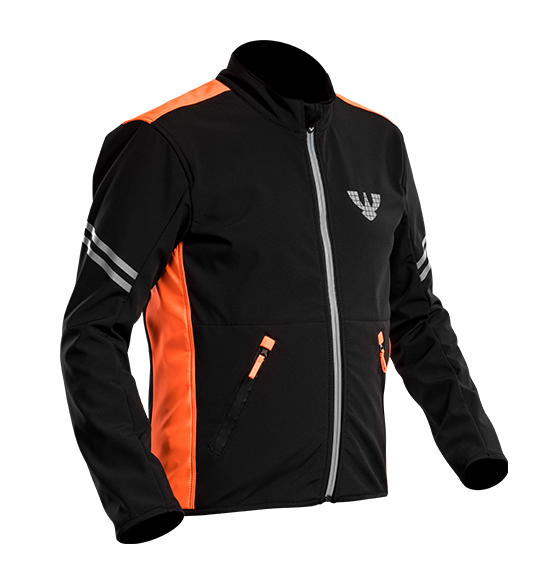 černo/oranžová