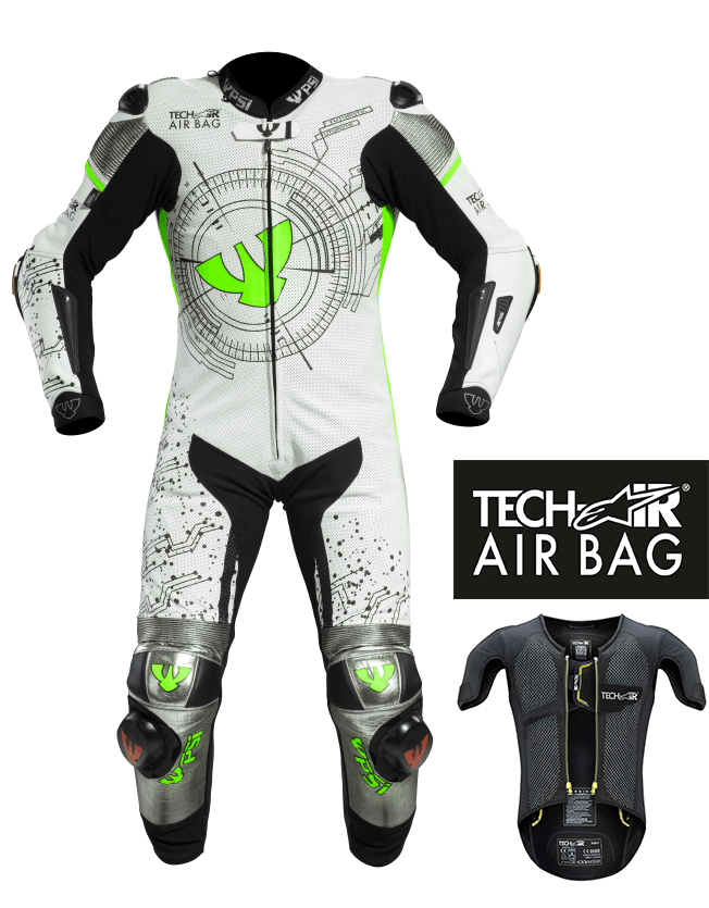Lederkombi RACING GRID AIRBAG