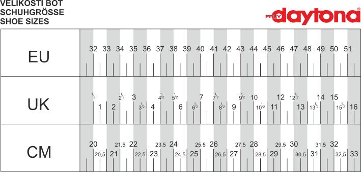 Velikostní tabulka_Boty Daytona.png - PSí Hubík