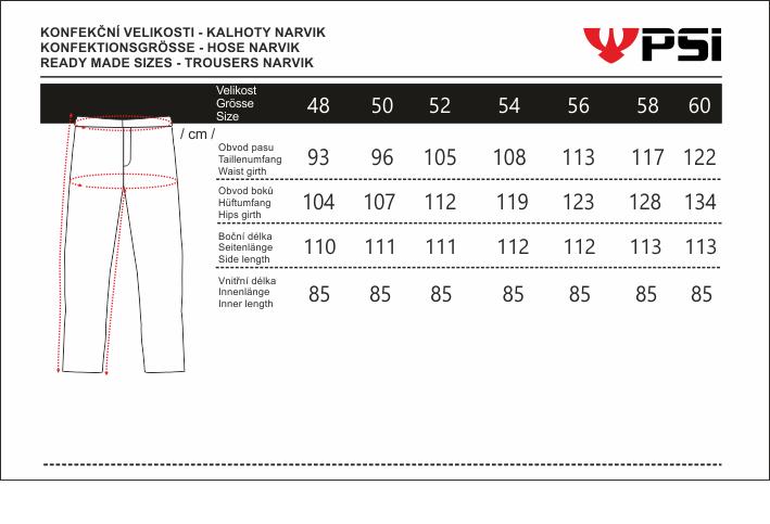 Velikostní tabulka_kalhoty NARVIK.png - PSí Hubík