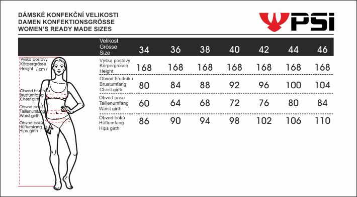 Velikostní tabulka_PSí_dámská_2020.png - PSí Hubík