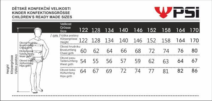 Velikostní tabulka_PSí_dětská.png - PSí Hubík