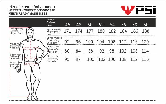 Velikostní tabulka_PSí_pánská_2020.png - PSí Hubík