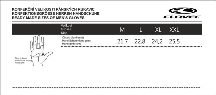 Velikostní tabulka_rukavice CLOVER_pánská.png - PSí Hubík